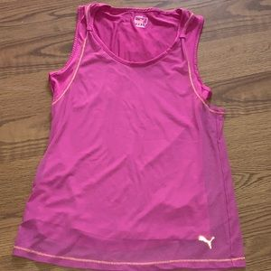 🏋️♀️ WORKOUT! w/ this Puma double layered tank